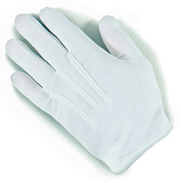 Handbell White Large Gloves