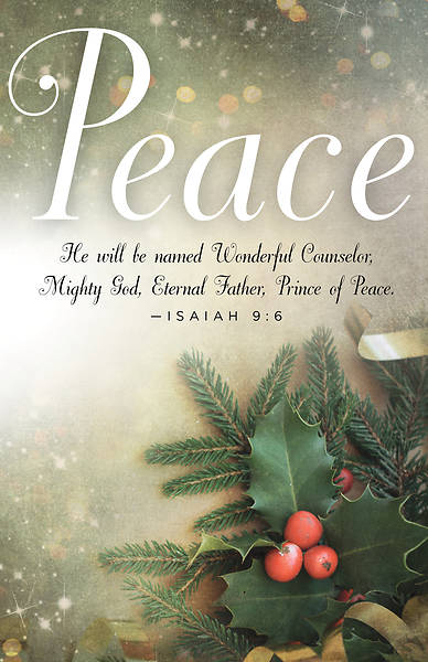 Peace Image Advent Bulletin (Pkg of 50)