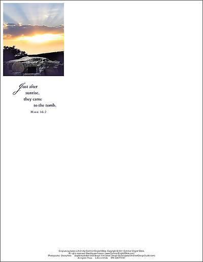 Just After Sunrise Letterhead 2014 (Package of 50)