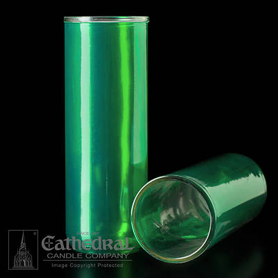 Cathedral Inserta-Lite 5,6,7-Day Reusable Glass Globe - Green