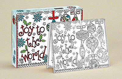 Colorful Joy Coloring Boxed Christmas Cards by LANG