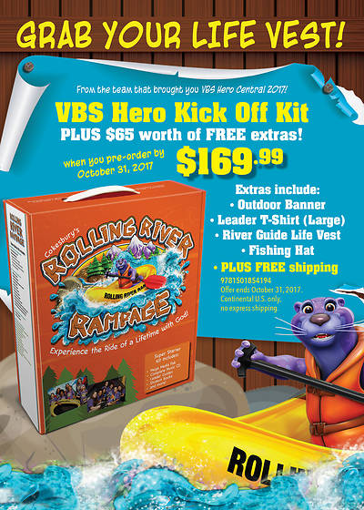 Vacation Bible School (VBS) 2018 Rolling River Rampage Promotion and Training Pack