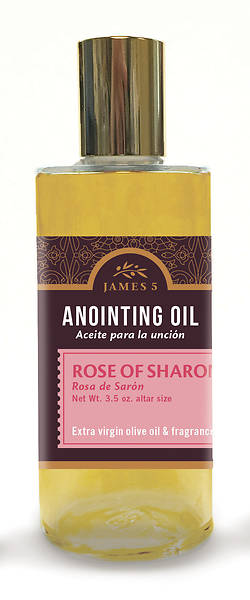 James 5 Rose of Sharon Altar Size Anointing Oil - 3.5 oz.