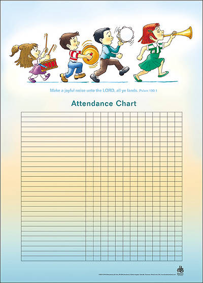 Music-Childrens Attendance Chart