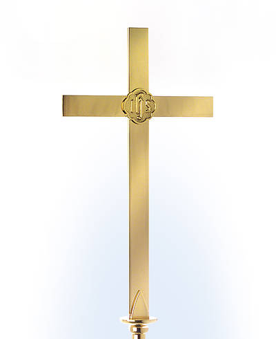 Solid Brass Floor Cross