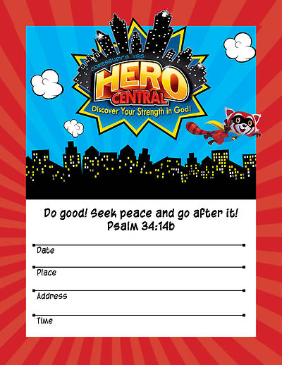 Vacation Bible School VBS Hero Central Small Promotional Poster