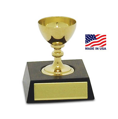 BRASS MINI CHALICE COMMUNION SET