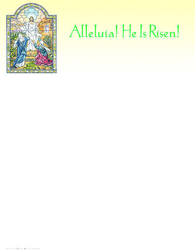 Easter Sunday Alleluia He is Risen Letterhead (Package of 100)
