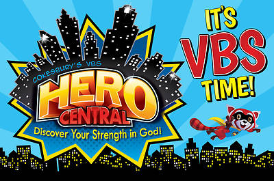 Vacation Bible School VBS Hero Central Invitation Postcards (Pkg of 24)