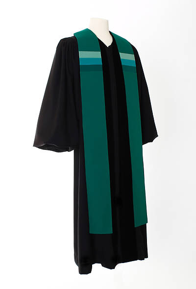 Triune Stripe Stole - Green