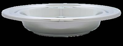 Deluxe Chrome Offering Plate with IHS Pad - Large