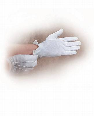 White Cotton Gloves Small
