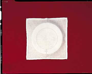 Easy-Care Linen Greek Cross Bread Plate Napkin