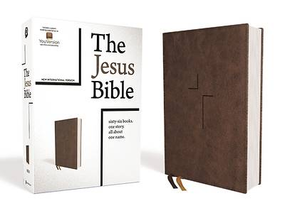 The Jesus Bible, NIV Edition, Leathersoft, Brown, Comfort Print