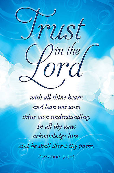 Trust in the Lord Bulletin - Pack of 100