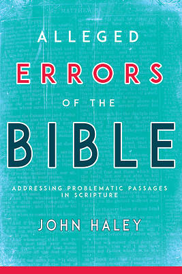 Alleged Errors of the Bible