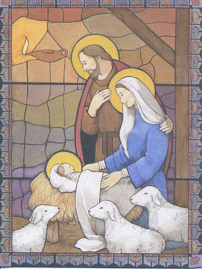 Holy Family in Stable Boxed Card