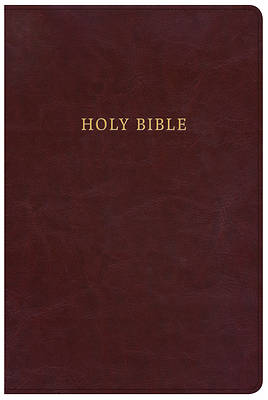 NKJV Large Print Personal Size Reference Bible, Classic Burgundy Leathertouch