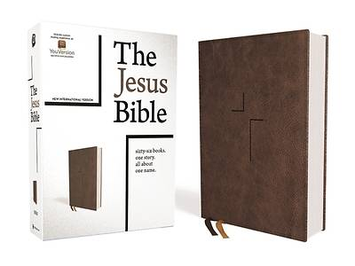 The Jesus Bible, NIV Edition, Leathersoft, Brown, Indexed, Comfort Print