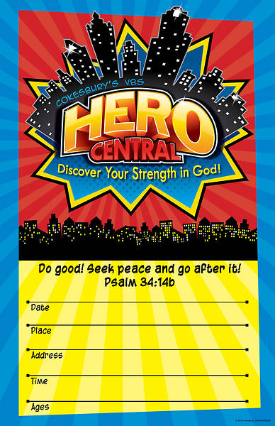 Vacation Bible School VBS Hero Central Large Promotional Poster
