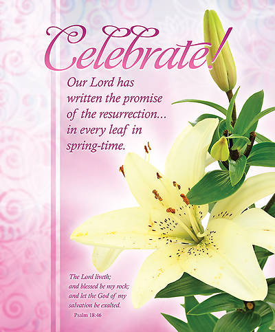 Easter Bulletin Celebrate!, Large Size Package of 100