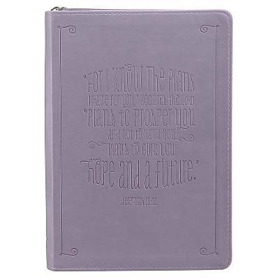 Purple Lux-Leather Journal W/ Zipper I Know the Plans