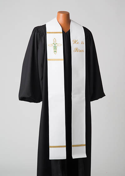 Word Series White Easter Stole