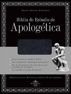 Biblia de Estudio de Apologetica (Black Bonded Leather, Indexed)