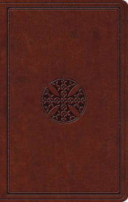 ESV Value Thinline Bible (Trutone, Brown, Mosaic Cross Design)