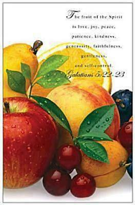 Fruit of the Spirit Scripture Series  Bulletin, Regular Size (Package of 50)
