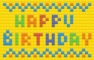 Happy Birthday Postcards - Blocks - (Pk 25)