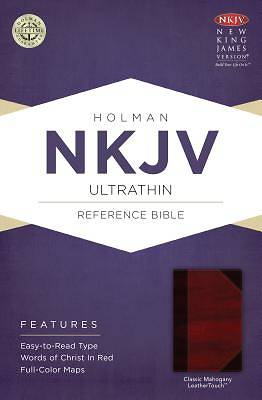 NKJV Ultrathin Reference Bible, Classic Mahogany Leathertouch