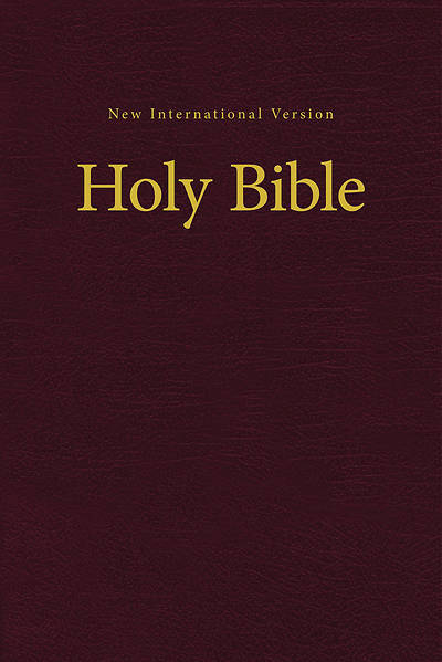 NIV Value Pew and Worship Bible Burgundy - Case of 16