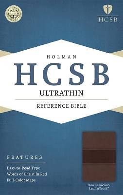 HCSB Ultrathin Reference Bible, Brown/Chocolate Leathertouch