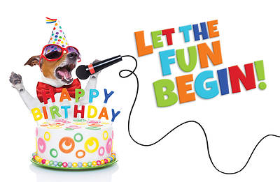 Let the Fun Begin Postcard-Happy Birthday (Pkg of 25)