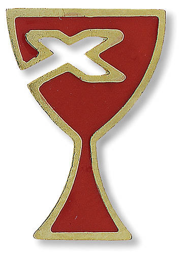Lapel Pin Red Enamel with Goldtone Rim (Disciples of Christ)