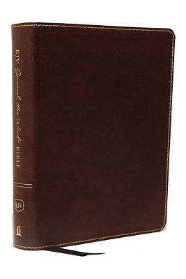 KJV, Journal the Word Bible, Bonded Leather, Brown, Red Letter Edition, Comfort Print