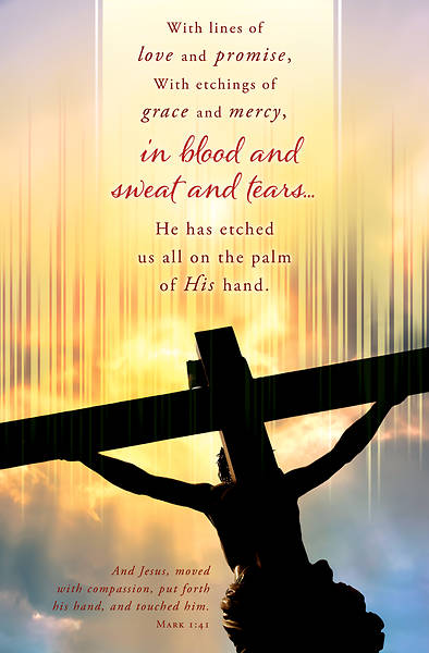With Lines of Love Good Friday Regular Size Bulletin