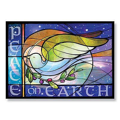 Stained Glass Dove Boxed Cards