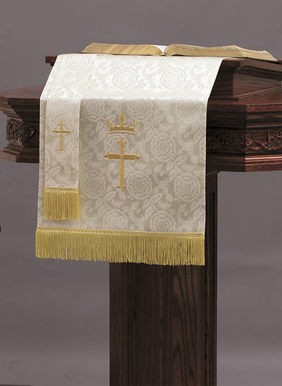 Abbott Hall TRN White Cross and Crown Two-Piece Parament Set