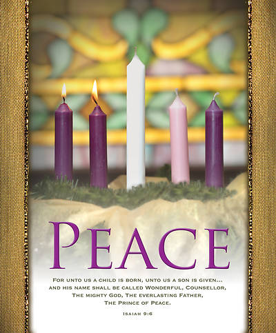 Peace Advent Wreath Legal Size Bulletin