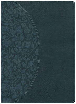 KJV Study Bible Large Print Edition, Dark Teal Leathertouch, Indexed