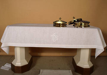 "Easy-Care IHS Communion Table Cover 47""x80"""