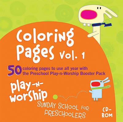 Play-n-Worship Coloring Pages for Preschool Volume 1 CD-ROM