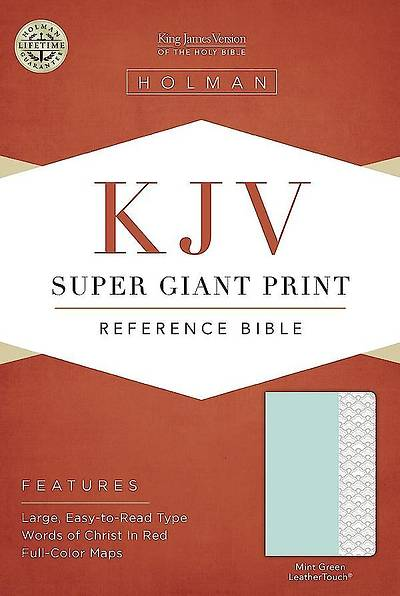 KJV Super Giant Print Reference Bible, Mint Green Leathertouch