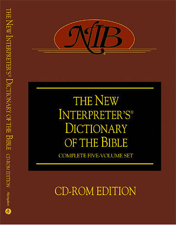 New Interpreters Dictionary of the Bible CD-ROM