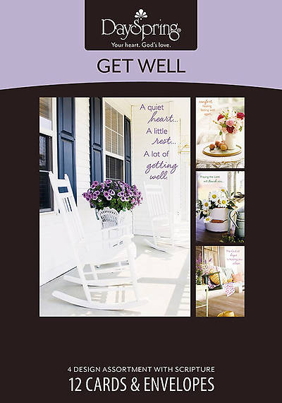 Sunny Days - Get Well Boxed Cards - Box of 12