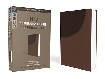 NIV, Super Giant Print Reference Bible, Imitation Leather, Brown, Red Letter Edition