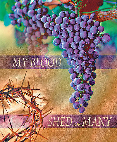 My Blood Shed for Many Maundy Thursday Legal Size Bulletin
