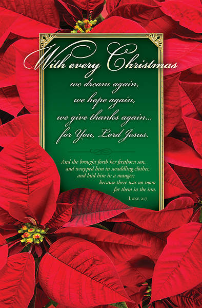 With Every Christmas Poinsettia Regular Size Bulletin